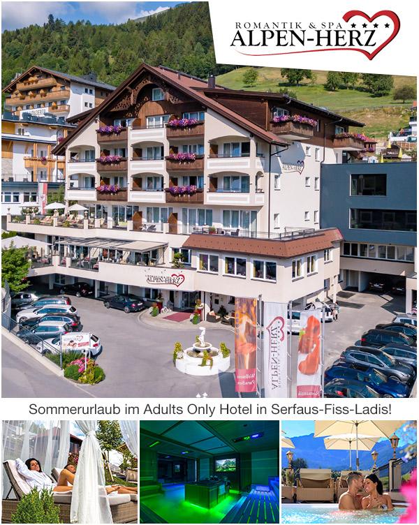 Hotel Alpen-Herz - Romantikurlaub im Adults Only Hotel in Serfaus-Fiss-Ladis